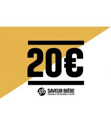 Cadeaucheque 20 euro