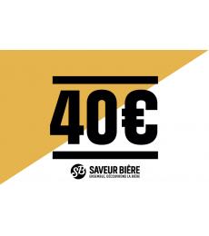 Cadeaucheque 40 euro