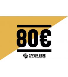 Cadeaucheque 80 euro