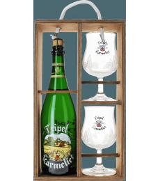 Giftpack Tripel Karmeliet - Bois (1 Bière 75cl 2 Glass)