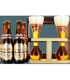 Coffret Kwak bois (4 bières 1 verre duo)