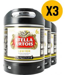 Pack 3 fusten 6L Stella Artois