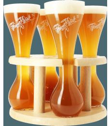 Quattro 4 verres Kwak avec support