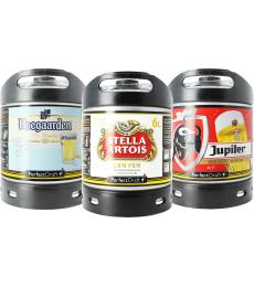 Tapvaatjes Triplepack Hoegaarden - Stella Artois - Jupiler