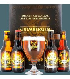 Coffret Grimbergen Livre (4 bières 1 verre)