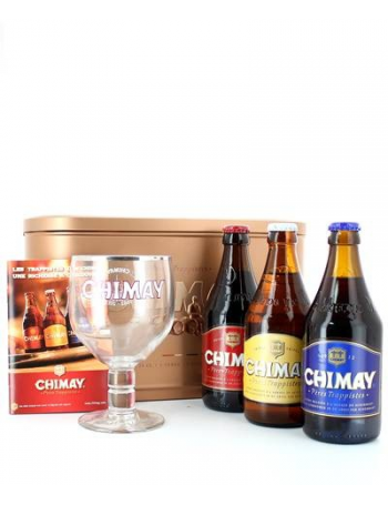 coffret cadeau chimay biere trappiste bi re de l 39 abbaye de notre dame de scourmont 33 cl bleue rou. Black Bedroom Furniture Sets. Home Design Ideas