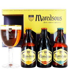 Coffret Maredsous (3 bières 1 verre)