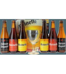 Coffret Moinette (6 bières 1 verre)