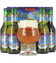 Coffret Bière de Noël Meteor (4 bières 1 verre)