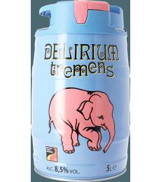 Een tapvat van 5 liter met ingebouwd druksysteem van Delirium Tremens