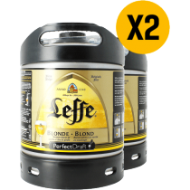 2 x Fusten 6L Leffe blond Perfect Draft
