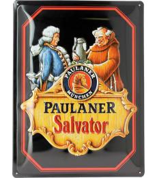 Plaque en métal Paulaner Salvator