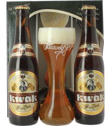 Kwak-set (2 flesjes bier, 1 glas)