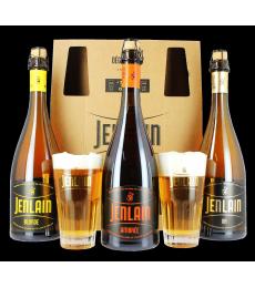 Coffret Jenlain (3 bières 75cl + 2 verres)